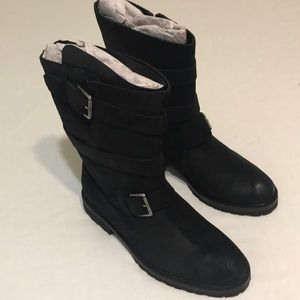 J Shoes Mid Calf Moto Suede Boots size 8.5 NEW